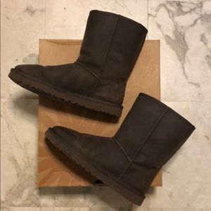Ugg Brown Leather Classic Boots